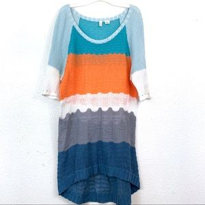 Anthropologie MOTH Colorblock Loose-knit Sweater